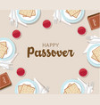 traditional passover table with passover plate and vector image vector image