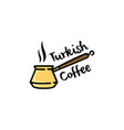 turkish coffee logo vector image vector image