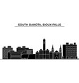 usa south dakota sioux falls architecture vector image
