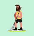 voluntire clean up the garden vector image vector image