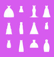 wedding dresses set on mannequin vector image vector image