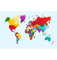 World map colorful countries EPS10 file vector image vector image