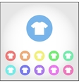 T-shirt round icon set vector image