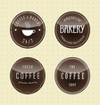 Badge design for Coffee and Bake vector image