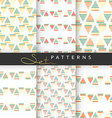Set of 6 seamless retro geometric patterns vector image