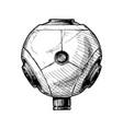 360-degree camera vector image vector image