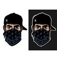 a guy in baseball cap and bandana vector image vector image