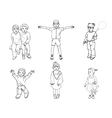 a set of children vector image vector image