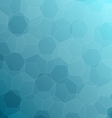 Abstract blue background with hexagons vector image vector image