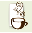 abstract card with up of coffee or tea vector image vector image