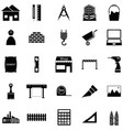 architecture icon set vector image