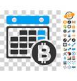 bitcoin calendar icon with bonus vector image vector image