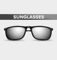 black unisex sunglasses trendy 3d shades vector image vector image
