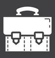 briefcase solid icon business and portfolio vector image vector image