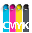 bucket of paint cmyk color scheme for the vector image vector image