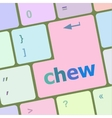 chew button on computer pc keyboard key vector image vector image
