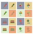 circus icons collection vector image vector image