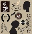 Coffee elements vector image