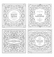 collection templates vector image vector image