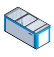 commercial freeze icon isometric style vector image