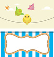 Cute flying birds with frame vector image vector image