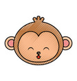 cute scribble monkey face cartoon vector image vector image