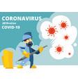 disinfection coronavirus covid19 19 virus vector image vector image