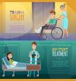 doctors patients horizontal banners vector image vector image