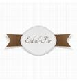 eid al-fitr muslim festive label vector image