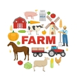 Farm Round Design vector image vector image