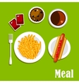 Fast food lunch meal menu design vector image vector image