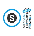 Financial Reward Seal Flat Icon with Bonus vector image vector image