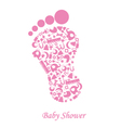 foot with baby icons vector image vector image