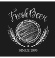 Fresh beer chalk badge vector image