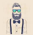 gentleman hipster vector image