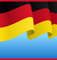 german flag wavy abstract background vector image vector image