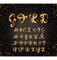 gold and glossy shining font golden ribbon vector image vector image