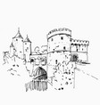 hand drawn sketch metz france vector image vector image