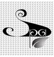 handwritten label word SPA vector image vector image