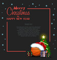 happy new year frame with basketball ball vector image vector image