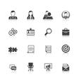 Human resources black icons set vector image vector image