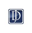 jd letter logo vector image vector image