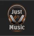 just music vintage musical tshirt design vector image