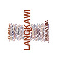 langkawi island malaysia text background word vector image vector image