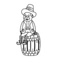 leprechaun with barrel vector image