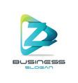 letter z media logo vector image vector image