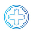 line cross medicine symbol to help the people vector image vector image