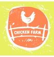logo Chicken farm vector image