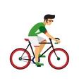 man ride road bicycle cycling sport vector image vector image