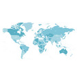 map world in shades blue high detail vector image vector image